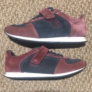 4/$60 Lacoste Burgundy & Black Sneakers